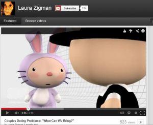 Screenshot of one of Laura Zigman's Xtranormal videos
