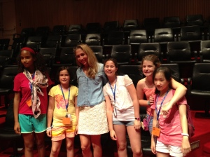 Joanna with kids